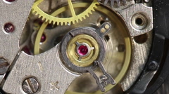 Work clockwork. The springs and gears at work. Stock Footage