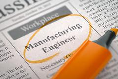 Manufacturing Engineer Job Vacancy Stock Illustration