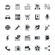 Web UI Icons - stock illustration