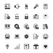 User Interface and Web Vector Icons - stock illustration