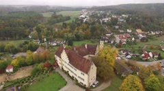 German Castle at the village of Hexenagger Bavaria Germany Stock Footage