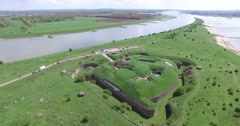 fort pannerden new Dutch defense waterline - stock footage