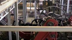MARTINIQUE -  Rum factory equipment  Stock Footage