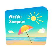 Image of summer time - stock illustration
