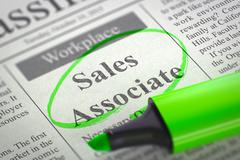 Sales Associate Hiring Now - stock illustration