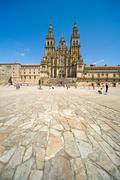 The Cathedral, Santiago de Compostela, Galicia, Spain Stock Photos