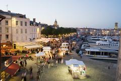 The old harbour, La Rochelle, Charente-Maritime, France - stock photo