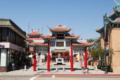 Chinatown, Downtown LA, Los Angeles County, California, USA - stock photo