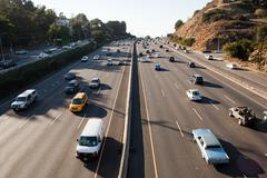 Interstate 405 at Sunset Bouledvard, Los Angeles County, California, USA - stock photo