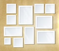 Collage photo frame - stock illustration