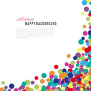 Colorful abstract spot background - stock illustration