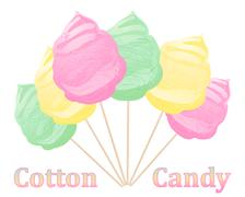 Cotton candy advert Stock Illustration