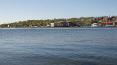Video of the Belfast Maine Waterfront Stock Footage