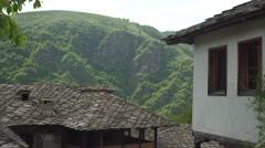 Unique Mountain Village Architecture 4K Stock Footage