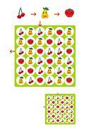 Fun brain games for kids Stock Illustration