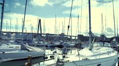 Yacht harbor in Stavanger Stock Footage