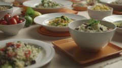 Dishes display - stock footage