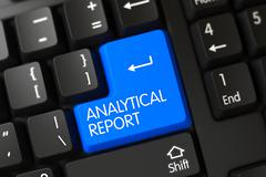 Analytical Report CloseUp of Keyboard Stock Illustration