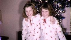 Best Friends Sisters Hug Blow Kiss 1960s Vintage Film Retro Home Movie 9499 Stock Footage