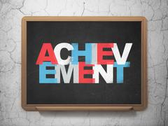 Studying concept: Achievement on School board background Stock Illustration