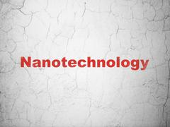 Science concept: Nanotechnology on wall background Stock Illustration
