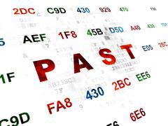 Time concept: Past on Digital background Stock Illustration