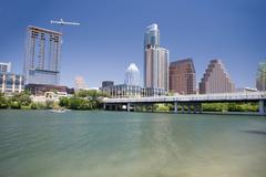 Modern buildings, Austin, Texas, USA Stock Photos