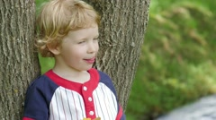 Close Up Of Boy While Eating A Popsicle. Stock Footage