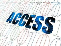 Safety concept: Access on Digital background - stock illustration