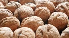 Walnuts arranged natural organic food 4K 2160p 30fps UltraHD footage - Juglan Stock Footage