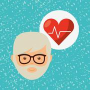 personal health design - stock illustration