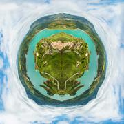 Little planet earth Stock Photos