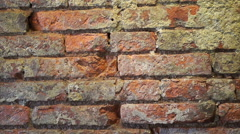 Red brick wall grunge texture Stock Footage
