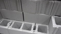 Concrete cinter blocks construction material Stock Footage
