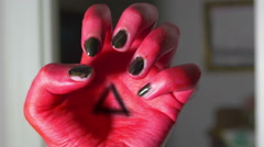 Evil creepy hand demonic 2 Stock Footage