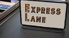 Express lane grocery lane Stock Footage