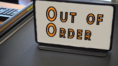 Out of order grocery line Stock Footage