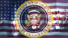 Seal of the President of USA,Presidential election in USA ,  Stock Footage