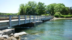 Mill Creek Bridge Yarmouth Port Cape Cod Stock Footage