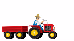 Tractor Isolated - stock footage