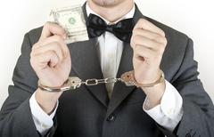 money corruption - stock photo