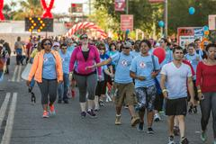 TUCSON, AZ/USA - OCTOBER 12,  2014: Unidentified participants in AIDSwalk - stock photo