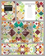 Set of business templates for presentation, brochure, flyer or booklet. Mater Stock Illustration