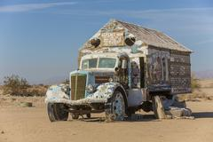 Bible Truck Outsider Art Installation - stock photo