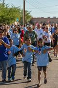 TUCSON, AZ/USA - OCTOBER 12, 2014: Unidentified participants in AIDSwalk on Octo Stock Photos