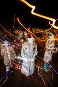 TUCSON, AZ/USA - NOVEMBER 09, 2014: Effect shot of unidentified performers at th - stock photo