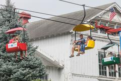 DES MOINES, IA /USA - AUGUST 10,2014: man and boy on sky ride at the Iowa State  Kuvituskuvat