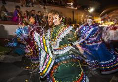 TUCSON, AZ/USA - NOVEMBER 09, 2014: Effect shot of folklorico dancers at the All - stock photo