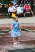 DES MOINES, IA /USA - AUGUST 10,2014: girl at the Iowa State Fair Kuvituskuvat