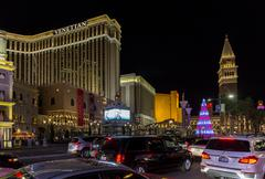 Las Vegas Strip at Christmas Stock Photos